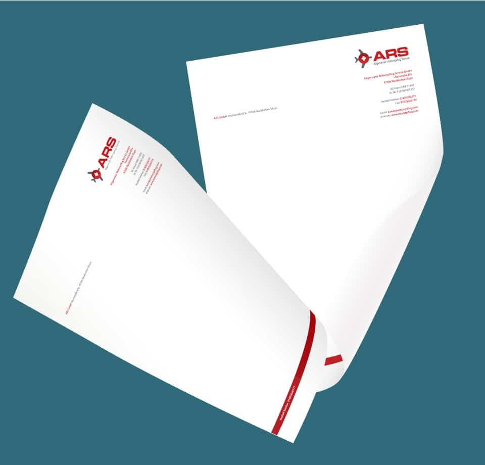 Flyer Design für Allgemeine Rettungsflug Service GmbH