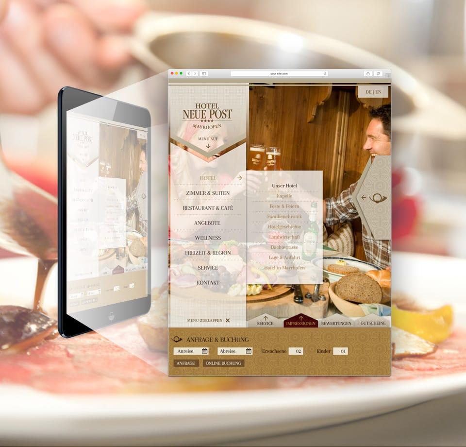 Webdesign für Hotel im Zillertal