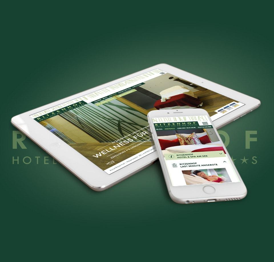 Webdesign für 4-Sterne Hotel in Österreich