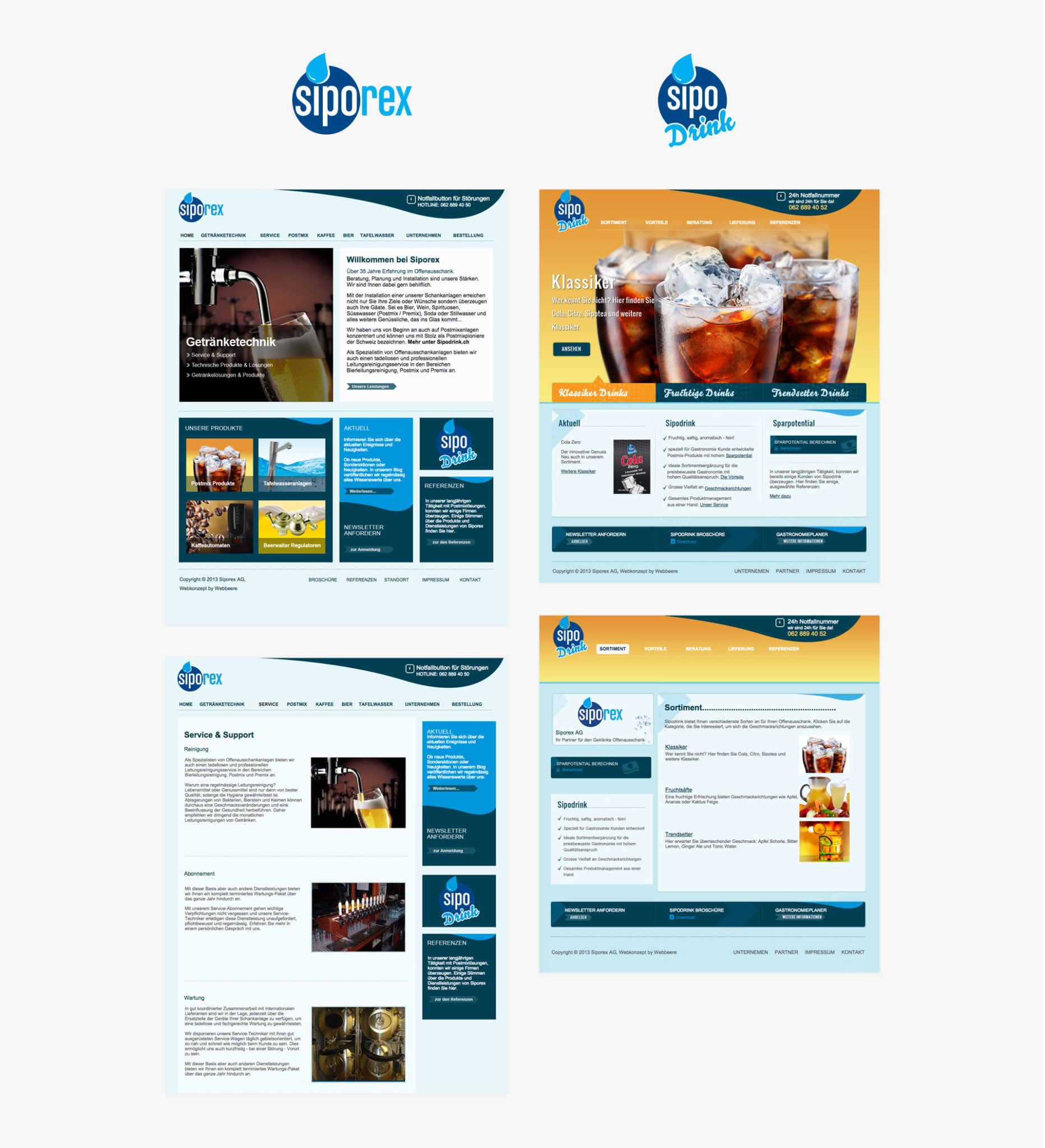 Branding und Verpackungsdesign für Getränkehersteller