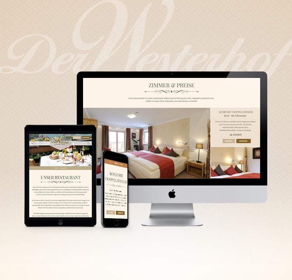 Webdesign für Hotel am Tegernsee