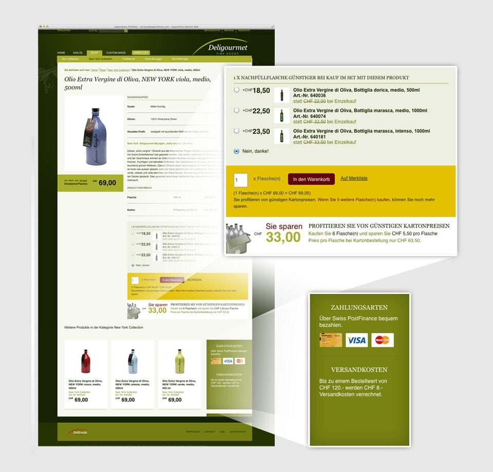 Entwicklung Magentoshop für Olivenöl