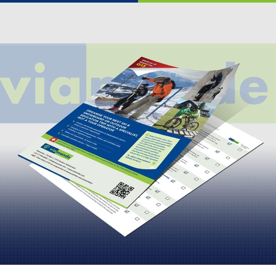 Diverse Druckmaterialien für Schweizer Reiseveranstalter Viamonde