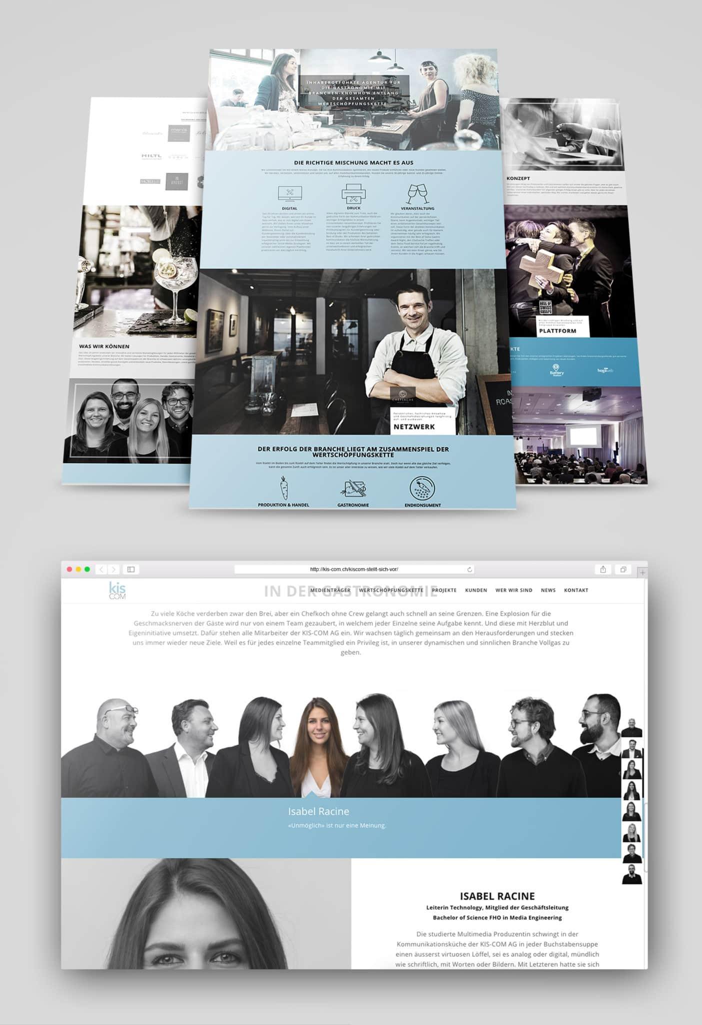 Corporate Identity Entwicklung KIS-COM AG
