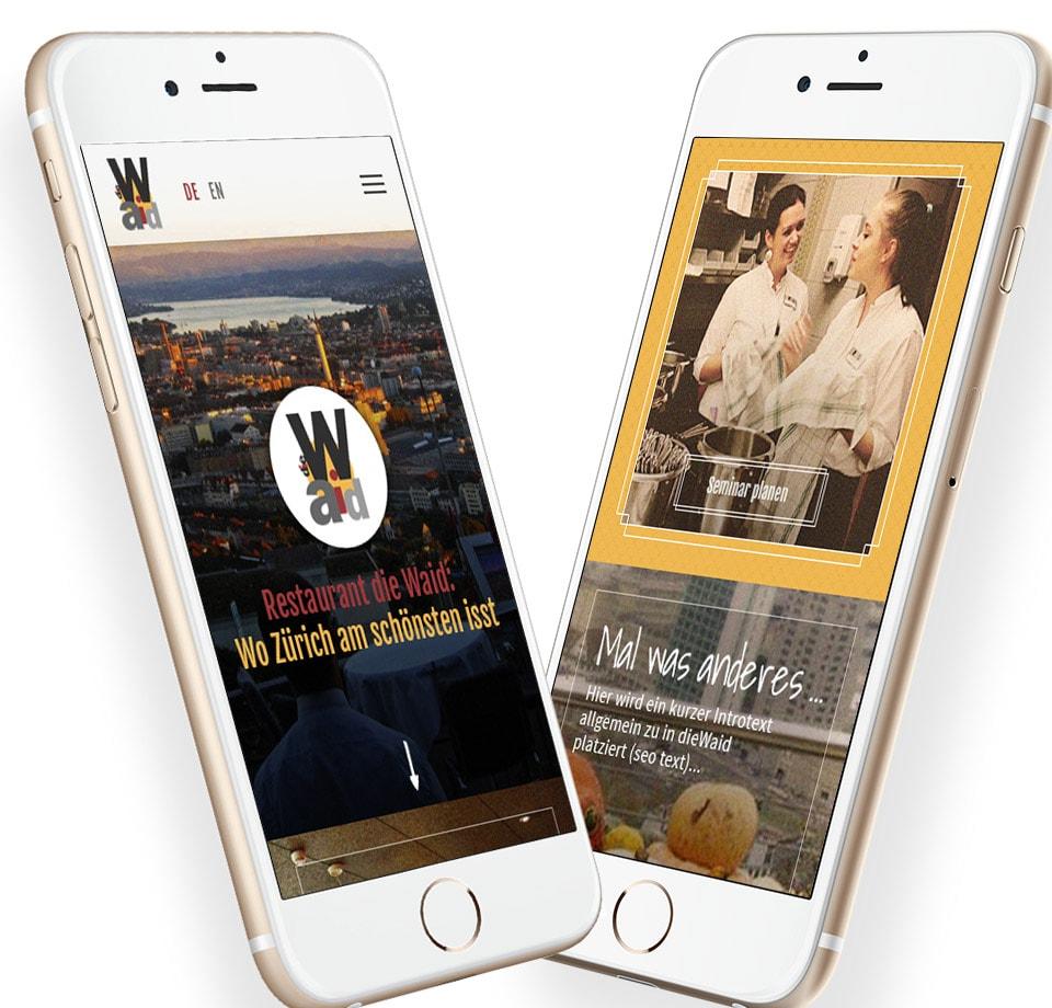 Webdesign für Restaurant in Zürich