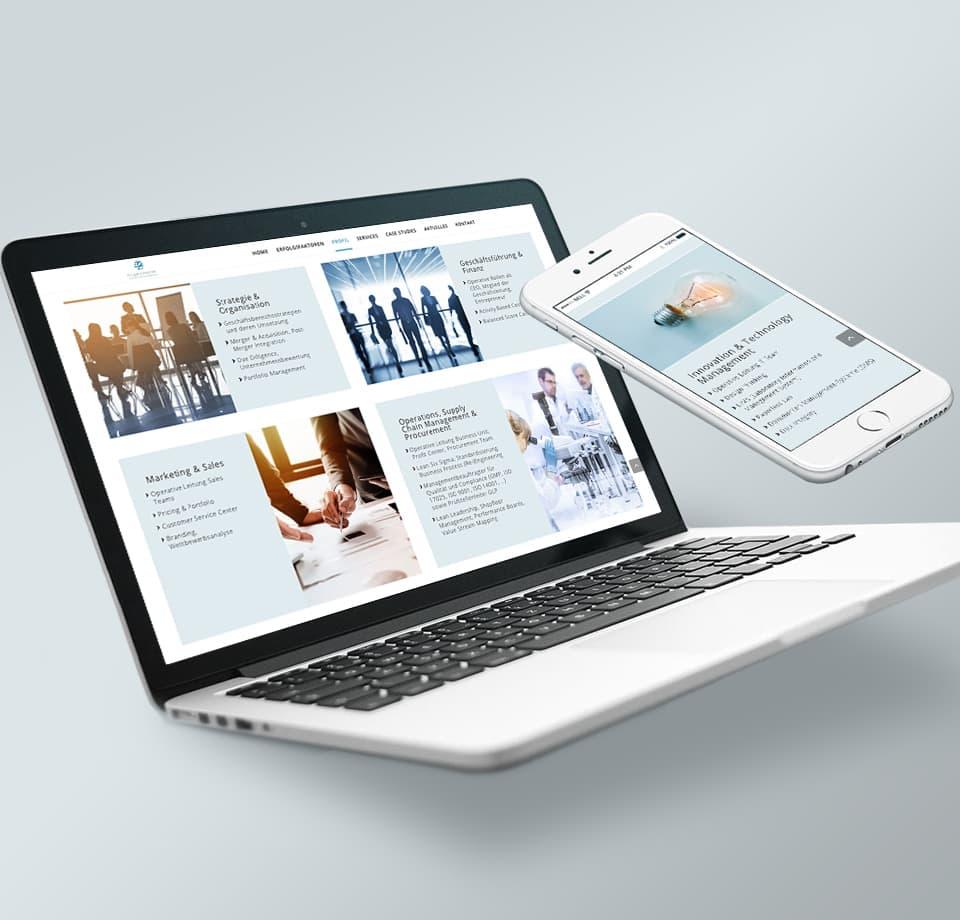 WordPress Webseite für Life Science Unternehmen