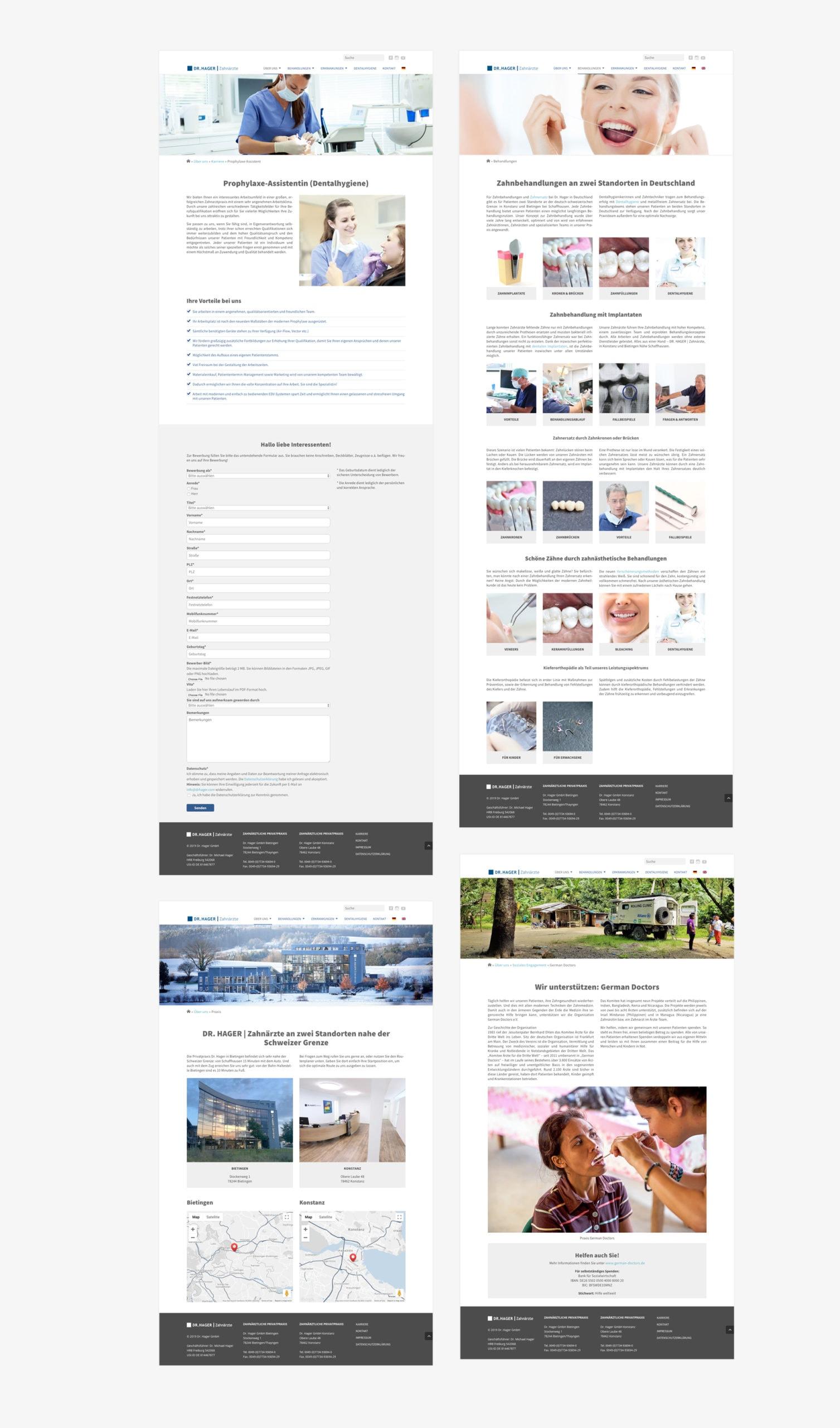Erstellung mehrsprachige WordPress Webseite Zahnarzt