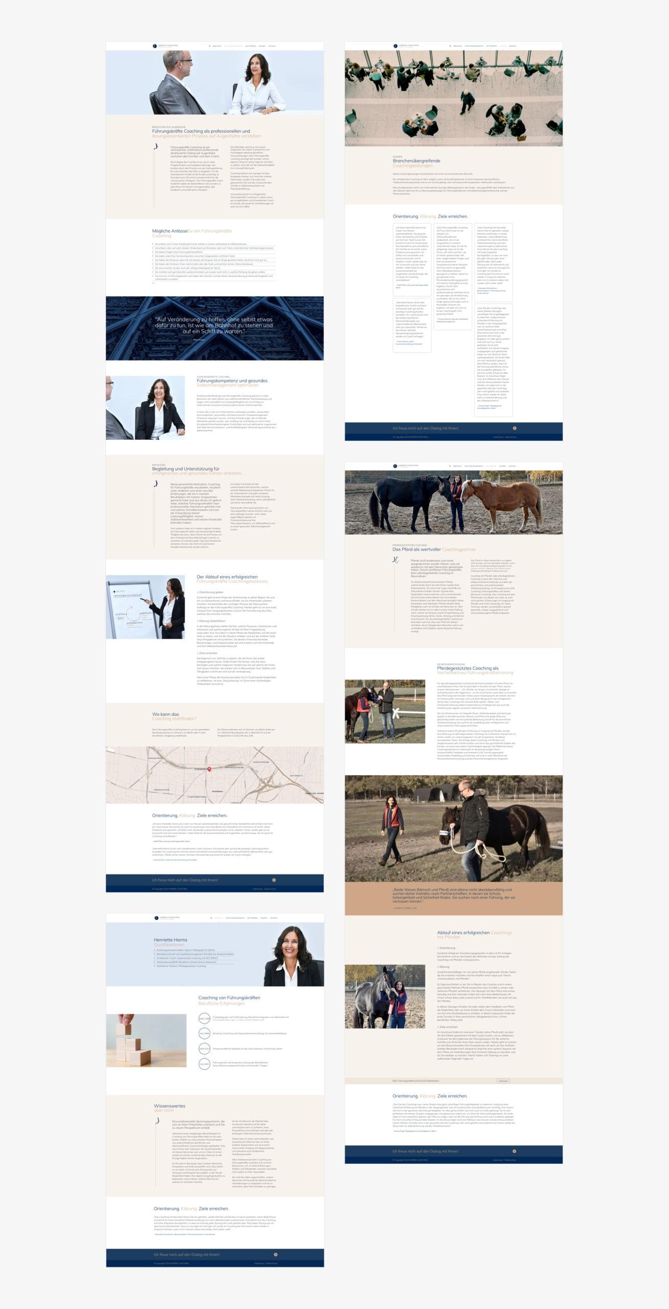Homepage design, Branding und WordPress webseite