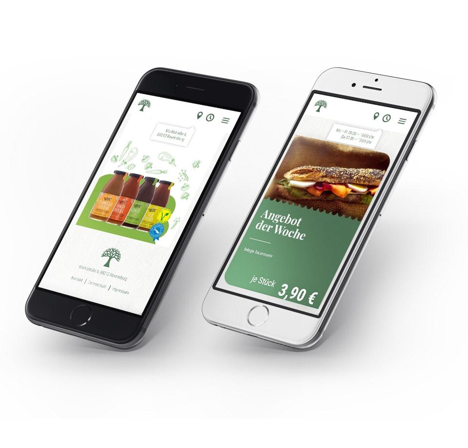 WordPress Landing Page für Bauernmarkt