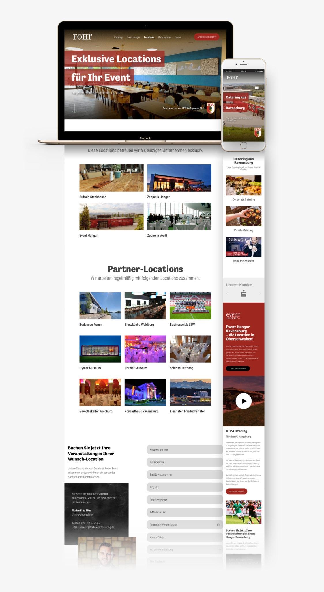 WordPress Webseite für Eventcatering